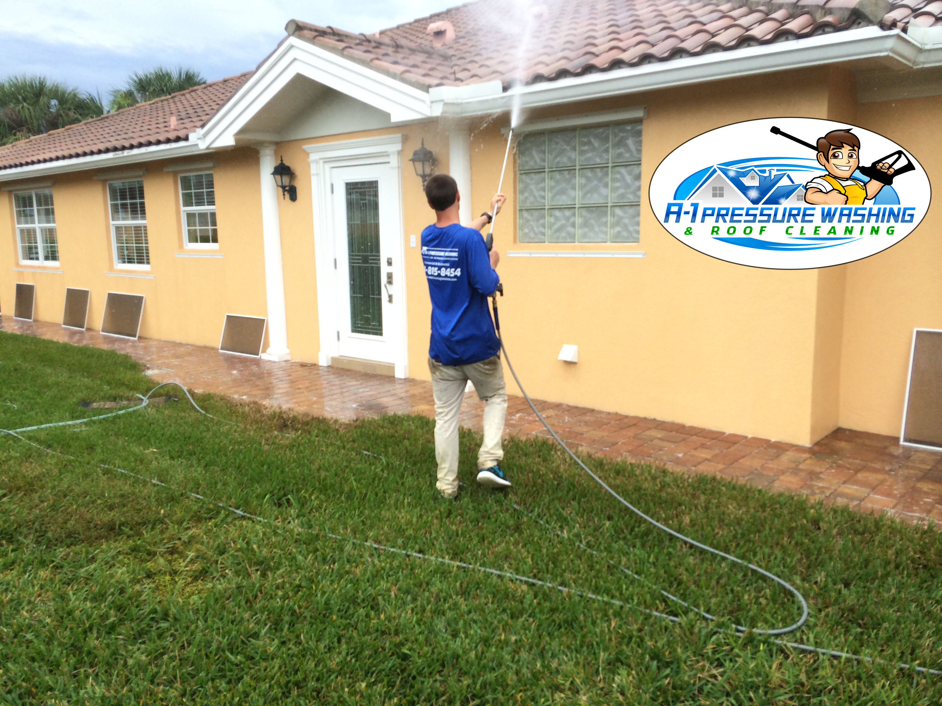 A-1 Pressure Washing & Roof Cleaning, Hi - Low - No Pressure Cleaning Systems, Serving Sarasota, Charlotte, Manatee, and Lee Counties since  1996 - FREE ESTIMATES 941-815-8454