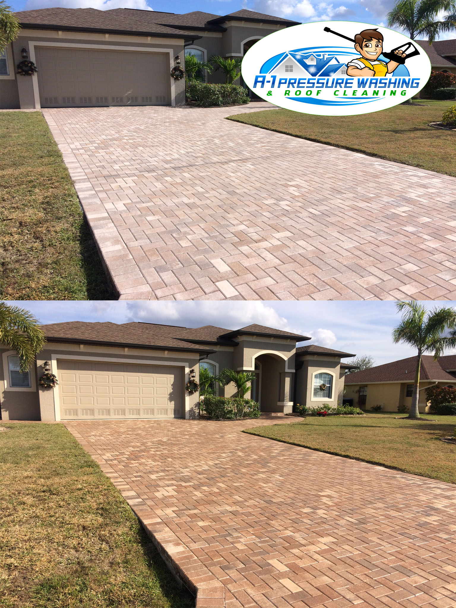 A 1 Pressure Washing Amp Roof Cleaning Brick Paver Sealing