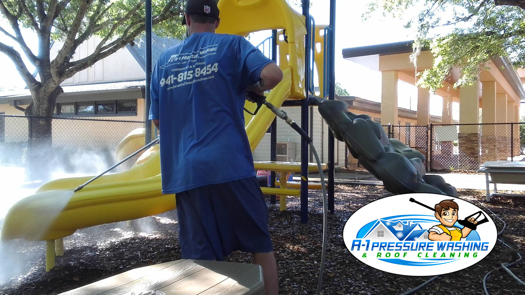 A-1 Pressure Washing & Roof Cleaning | Cleaning Playground Equipment