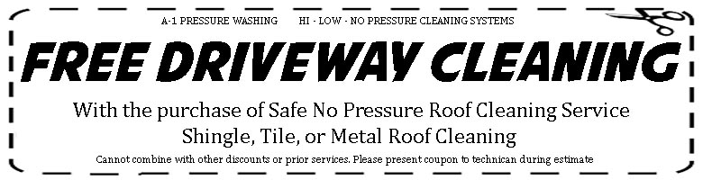 Coupons Pressure Washing Roof Cleaning Soft Washing