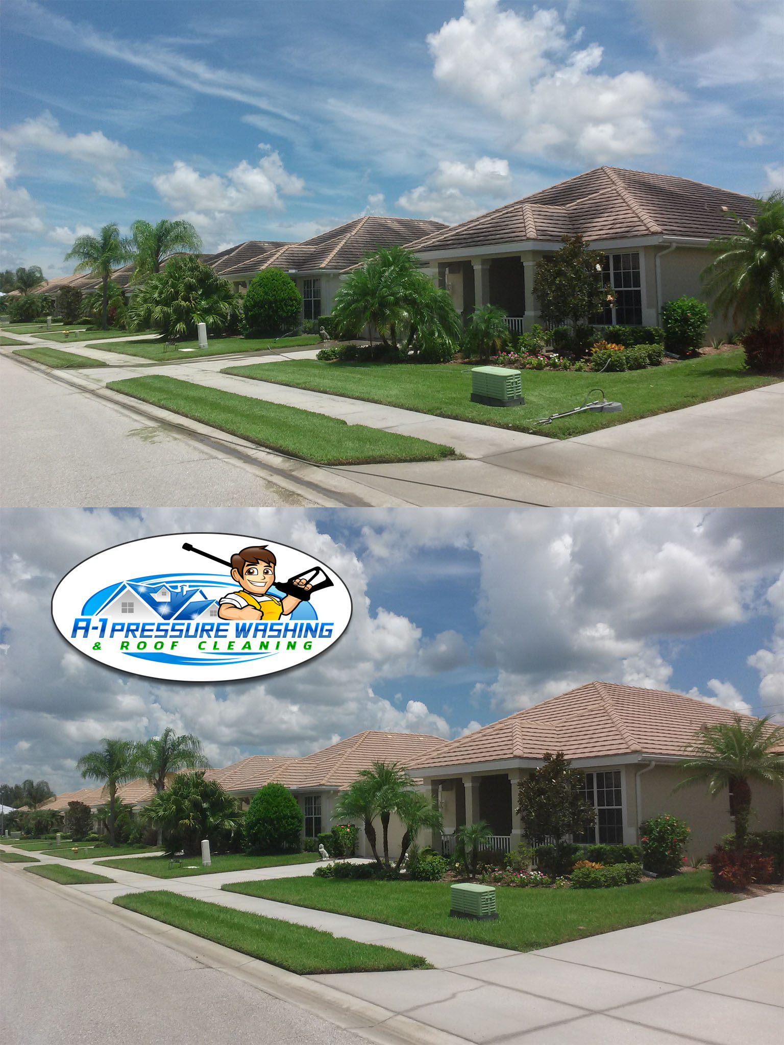 A-1 Pressure Washing & Roof Cleaning, Serving Sarasota, Charlotte, Manatee, and Lee Counties since  1996 - FREE ESTIMATES 941-815-8454