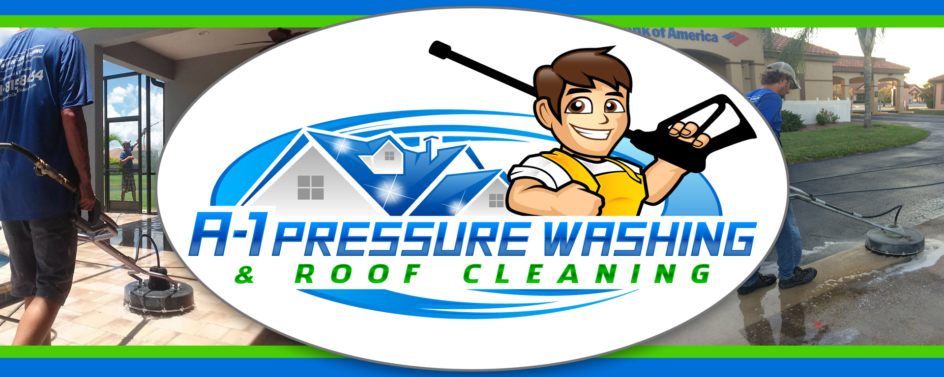 A-1 Pressure Washing & Roof Cleaning Company logo